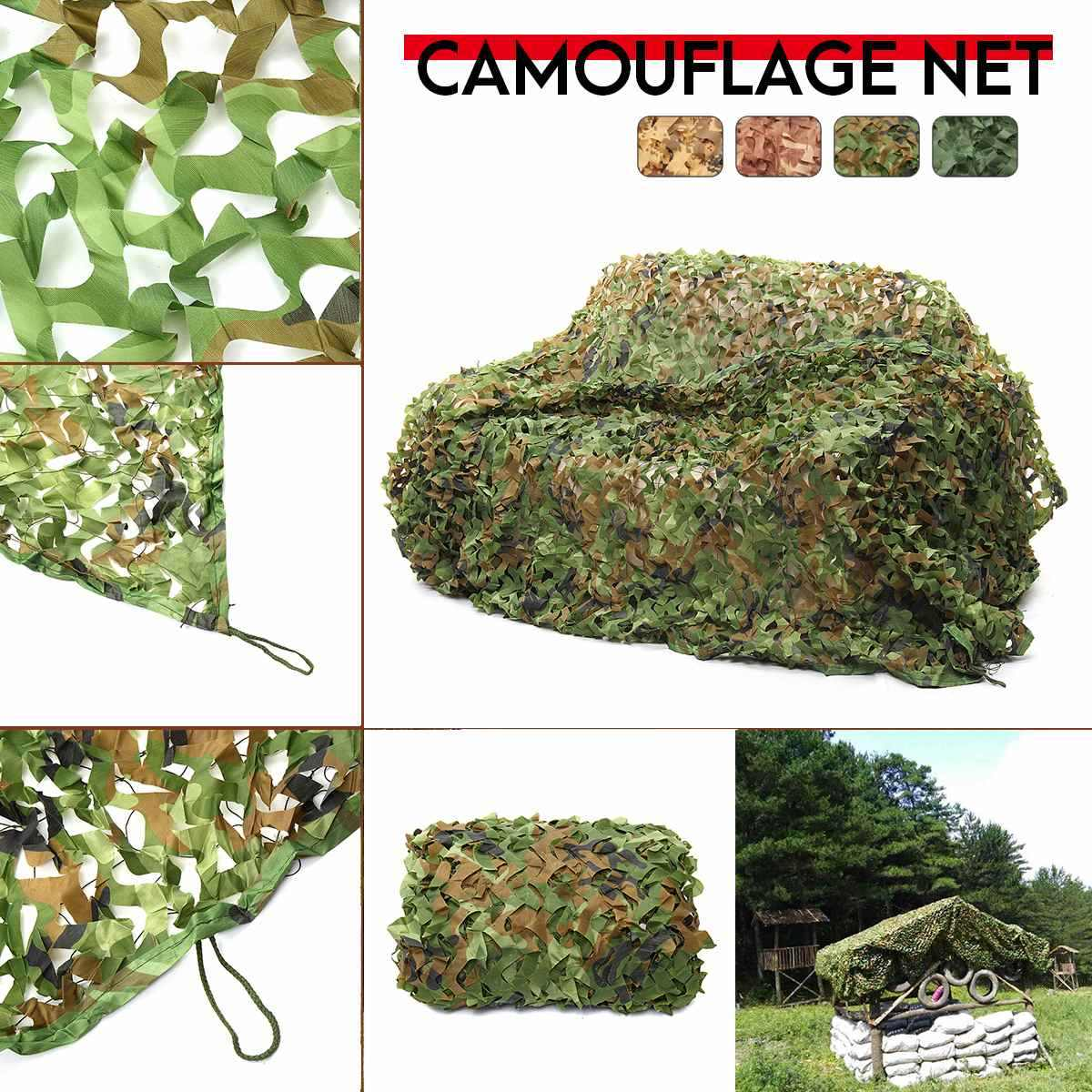 1.5x6 2x2 2x5 2x6 2x7 2x8 2.5x5 3x6 Jungle Camo Netting Camouflage Net for Car Cover Camping Woodland Military Hunting