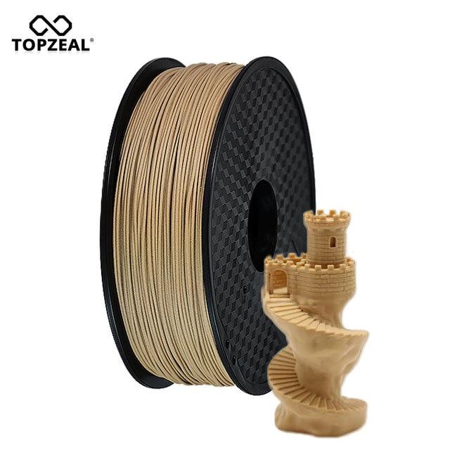TOPZEAL Wood 3D Printer Filament 1.75mm Dimensional Accuracy +/- 0.02mm Filament 3D Printing Materials Supplies