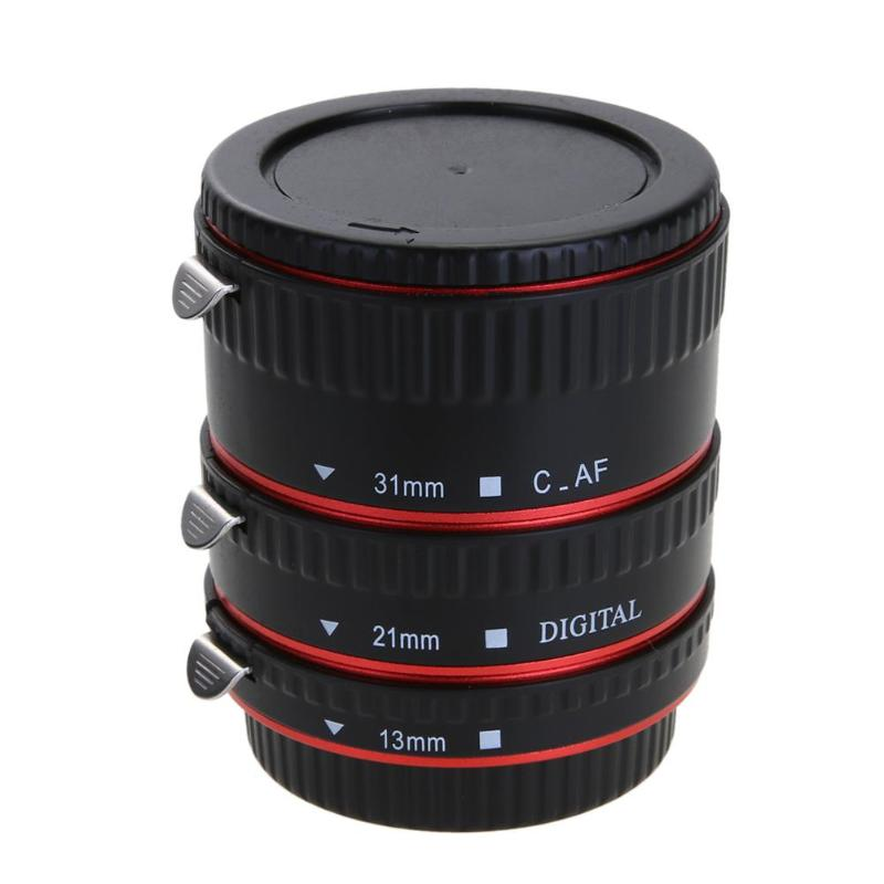 1Pcs Auto Focus AF Macro Extension Tube/Ring Mount For Canon 5D Mark IV EOS EF-S Lens 760D 750D 700D 80D 7D T6s 6D Lens Adapter