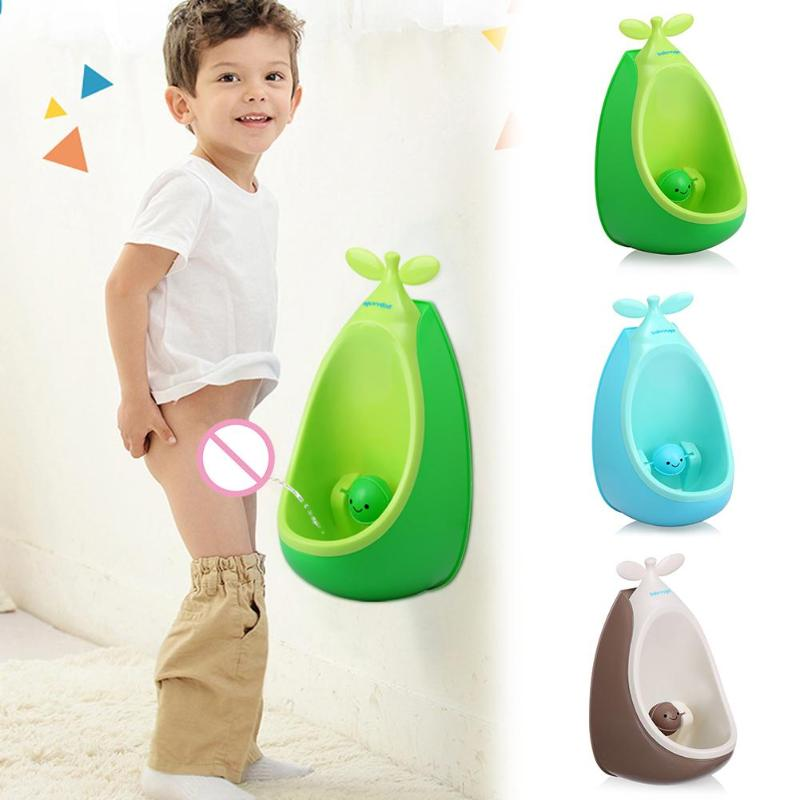 Pea Shaped Kids Potty Wall-Mounted Toilet Children Baby Pee Trainer Convenient Removable LUrinal Stand Vertical Bathroom Potty