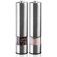 Электрический шлифовальный блок для соли и перца(2 упаковки)-электронный регулируемый вибратор-керамическая шлифовальная машина-автоматическая с одной рукой