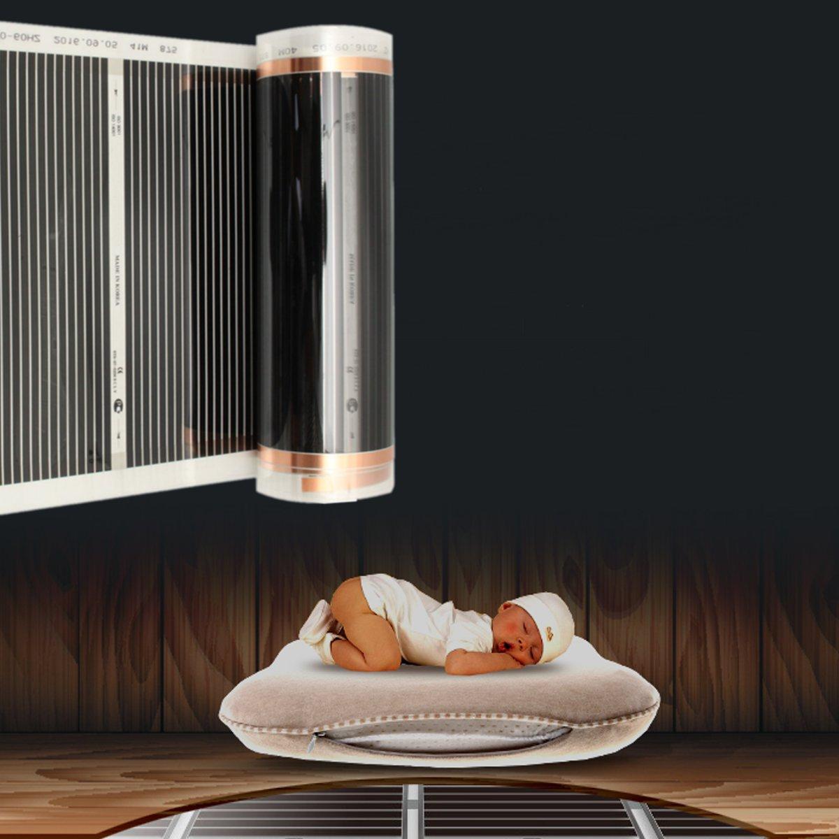 4pcs 50CM*2M One Square Meter Floor Heating Film (No accessories) Far Infrared Heating film Tool Warming Film Mat4pcs 50CM*2M One Square Meter Floor Heating Film (No accessories) Far Infrared Heating film Tool Warming Film Mat