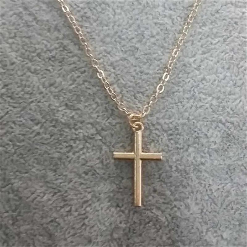 Kreuz Halsband Halskette Für Frauen Schmuck Kette Halsketten Silber Aussage Halskette Männer Collier Femme 2018 Kragen Halsketten Gold