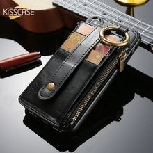 KISSCASE Business PU Leather Wallet Mobile Phone Case For iPhone X XR XS MAX Card Slot Flip Cases 8 7 6 6s Plus 5 5s