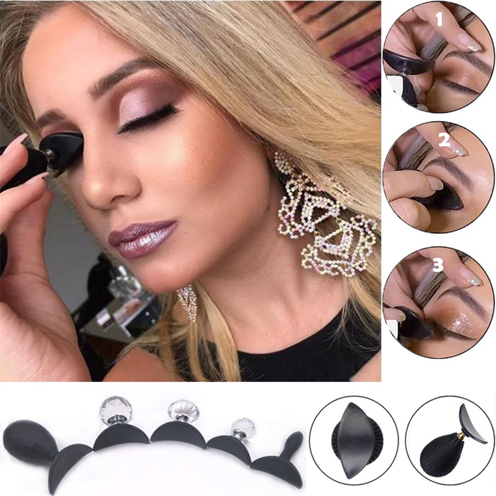 Beauty Essentials Magic Eyeshadow Makeup Applicator Silicon Eye Shadow Stamper Exquisite Soft Silicone Pad Portable Durable Makeup Tool Tslm2 High Quality