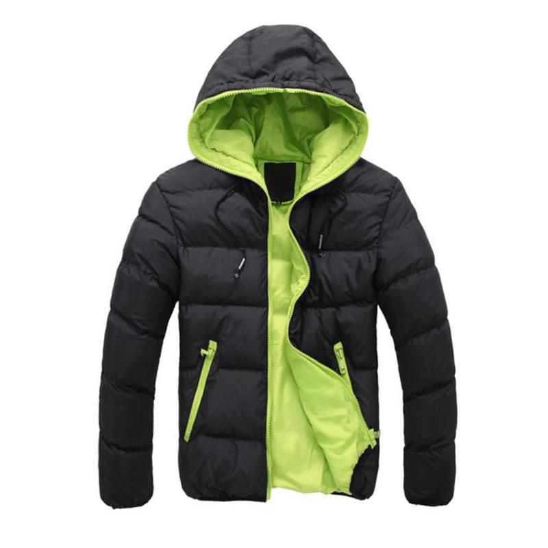2019 Thick Cotton Outwear Parka Winter Jacket Men Hooded Collar Warm Down Casual