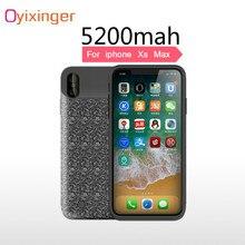 OYIXINGER nouvelle batterie portative externe boîtier Portable batterie rapide chargeur étuis pour iphone Xs Max 6.5 «pouces couverture batterie banque étui