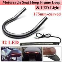 17.5cm 21cm 23cm Universal Motorcycle Rear Seat Hoop With 32pcs 2835 LEDs Light For Honda for Kawasaki for Yamaha for Suzuki