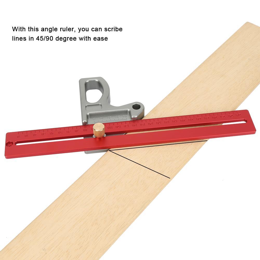 Mess & Messwerkzeuge Holzbearbeitung 45/90 Grad Winkel Lineal Scribe-mess Werkzeug Holzbearbeitung Messung Werkzeug 300mm Diversifiziert In Der Verpackung