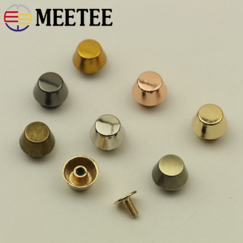 Buckles & Hooks Have An Inquiring Mind Meetee 10pcs 11mm Bag Screw Button Bottom Buckle Diy Leather Carfts Decor Handware Buckle Jacket Shoes Handmade Material Bd431