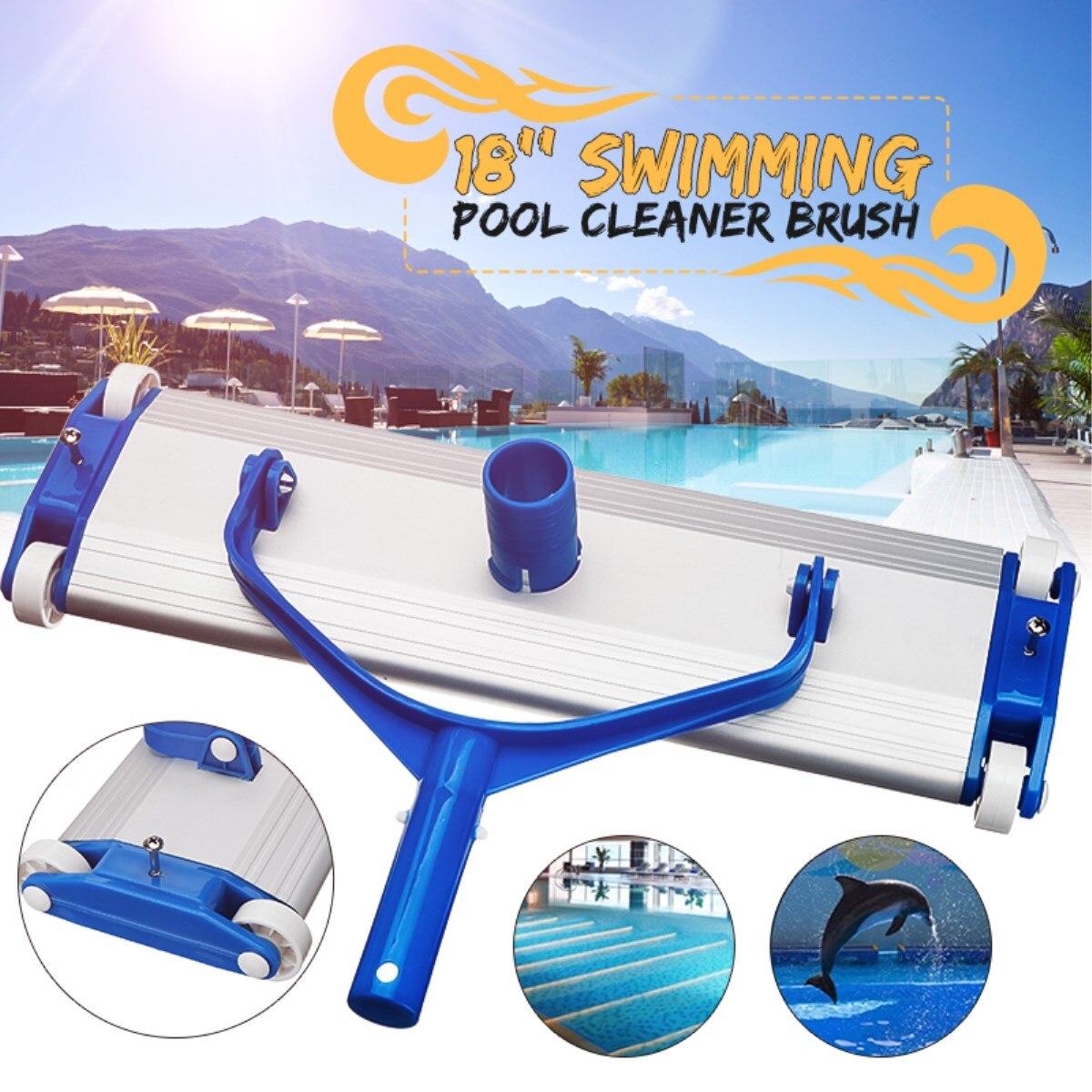 Aluminum Alloy 18\'\' Swimming Pool Vacuum Cleaner Brush Flexible Vacuum Head  Brush Swimming Pool Accessories