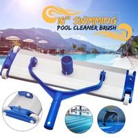 Aluminum Alloy 18'' Swimming Pool Vacuum Cleaner Brush Flexible Vacuum Head Brush Swimming Pool Accessories