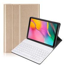 حافظة لوحة مفاتيح بلوتوث لهاتف سامسونج جالاكسي اللوحي 10.1 إصدار 2019 موديل SM T510/SM T515 لوحة مفاتيح لاسلكية قابلة للإزالة