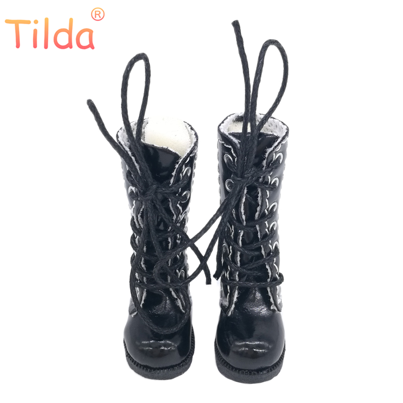 Tilda 3.2cm Doll Boots For Blythe Doll Toy,1/8 Mini Leather Dolls Shoes For Blyth Azone BJD,Casual Puppet Shoes Accessories