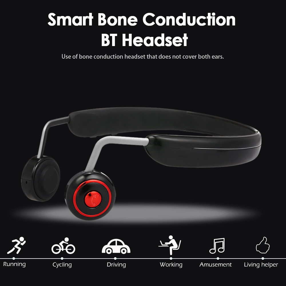 BH128 Portable Bone Conduction Headphones 8GB MP3 Player Wireless Bluetooth Earphone Outdoor Sports Headset Hands free