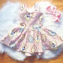 Милое повседневное модное платье трапециевидной формы с принтом Белоснежки для новорожденных девочек; розовое праздничное платье принцессы без рукавов с открытой спиной; сарафан; От 0 до 3 лет