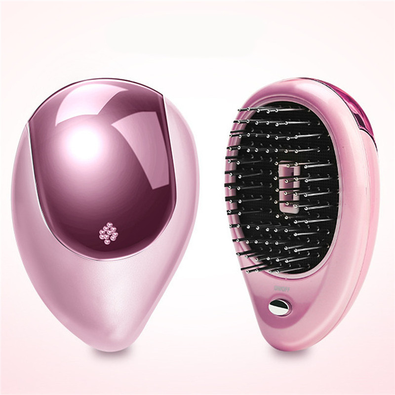 2 Colors Portable Electric Hair Ionic Brush Hair St