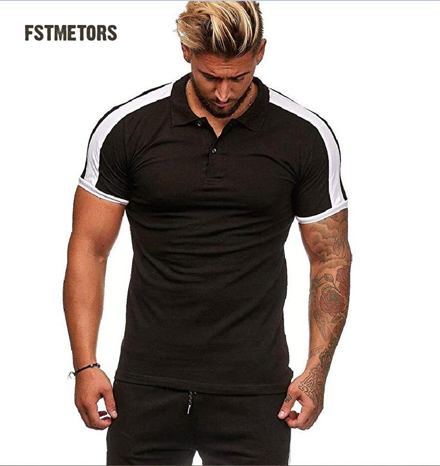 2019 Summer Men's   POLO   Shirt Fashion Casual Lapel Men's Slim Short Sleeve   Polo   Shirt