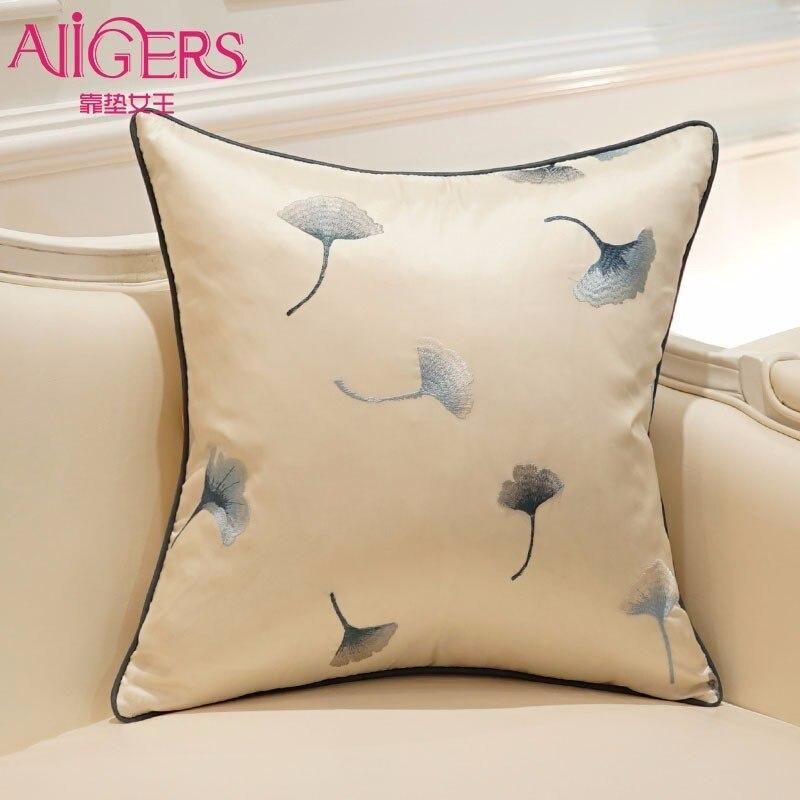 Hot Sale Pillow Lovely CartoonGinkgo biloba leaves 45X45CM Linen Decorative Cushion Cover