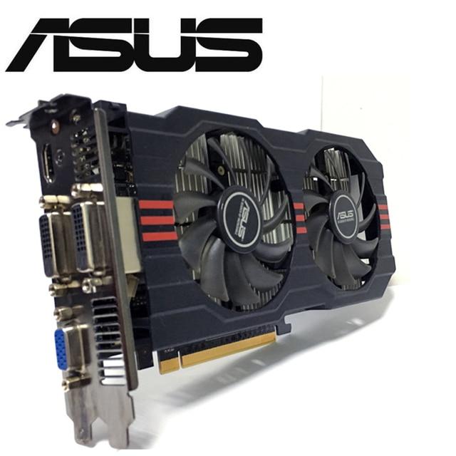 Видеокарта Asus, видеокарта для настольного ПК, 128 битная, GTX750TI GTX 750TI 2G D5 DDR5, PCI Express 3,0