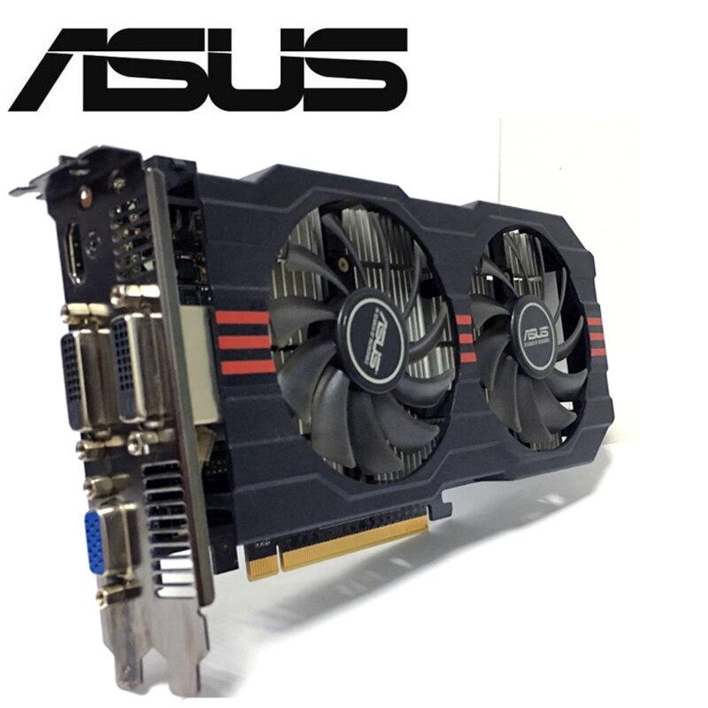 Asus GTX-750TI-OC-2GB gtx750ti gtx 750ti 2g d5 ddr5 128 bit placa de vídeo do computador placas gráficas de mesa pci express 3.0