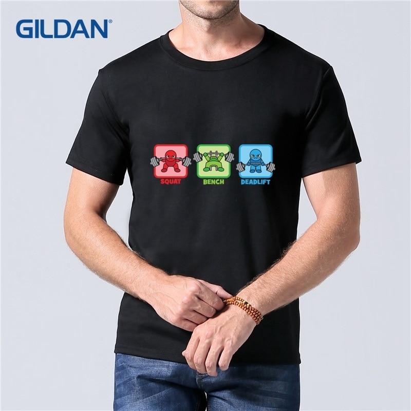Kawaii Powerlifter Squat Bench Press Deadlift T Shirts For Guys 2018 Buy Men Shirt 100% Cotton Printed Tee Shirt Breathable