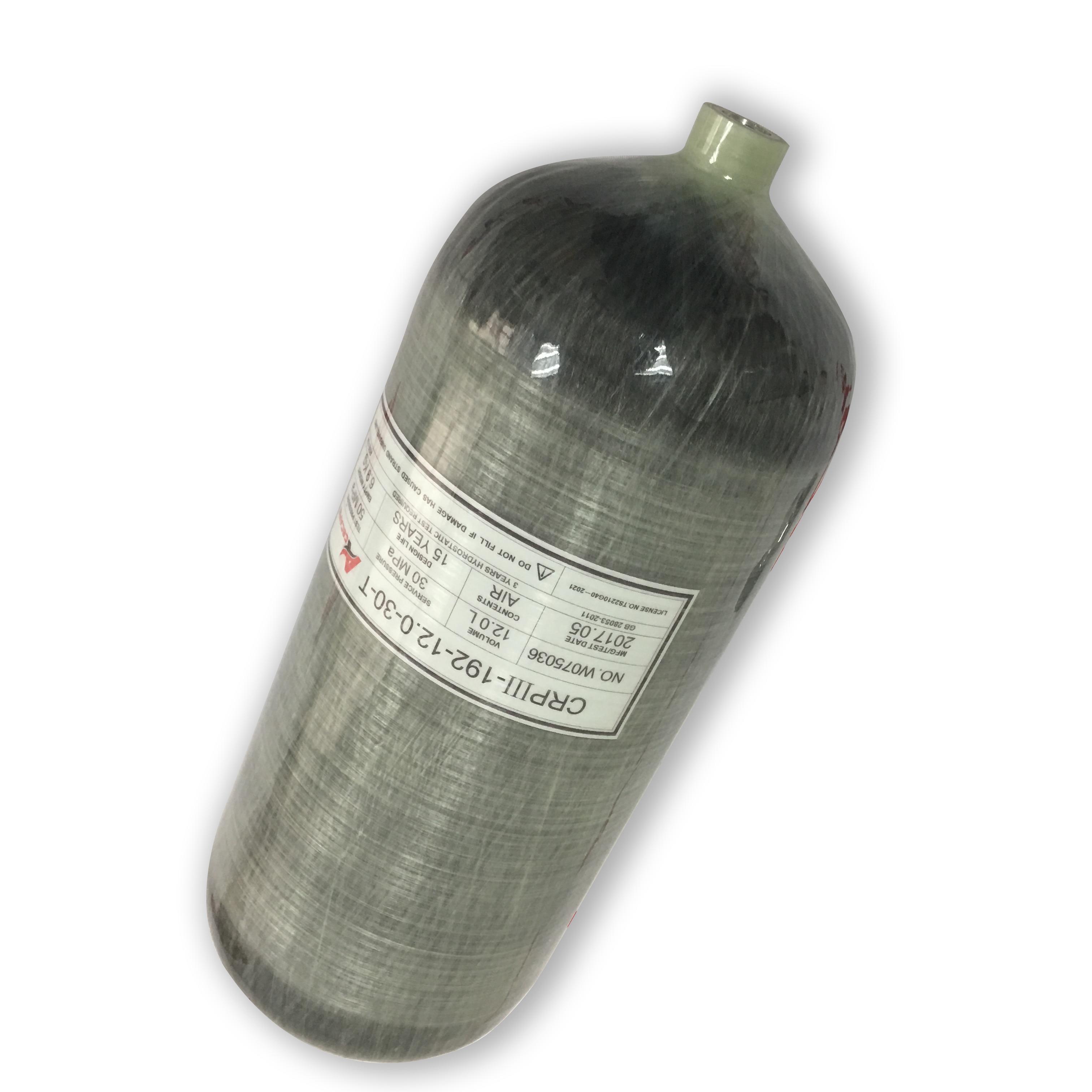 AC3120 12L Carbon Fiber Dive Tank Paintball Tank Carbon High Pressure Cylinders Acecare Air Tank Scuba Diving Tank Acecare-T
