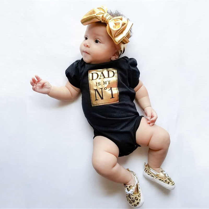 Pudcoco/милые Боди для новорожденных, Летние черные боди с короткими рукавами для мальчиков и девочек, комбинезон с надписью, одежда для детей от 0 до 24 месяцев
