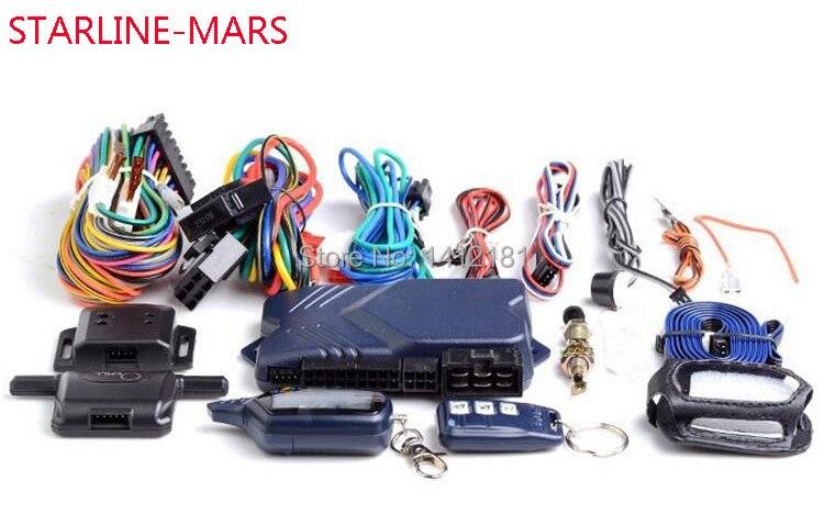 B 9 StarLine-Mars système Anti-vol d'alarme antivol de voiture bidirectionnelle + démarrage du moteur de contrôle du porte-clés LCD pour russe Twage StarLine B9