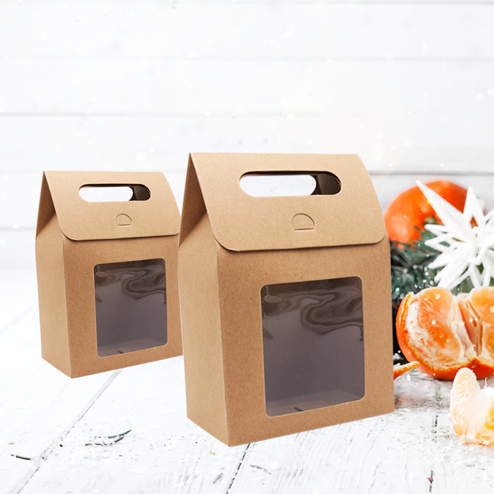 12pcs Kraft Paper Bag Khaki Candy Bag Wedding Favors Gift Box Package Birthday Party Baby Shower Decoration Bags With Flip Cover
