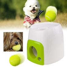 Interactive Fetch N Treat Dog Toys Cat Pet Tennis Ball Play Training Toys Automatic Dispenser Trainer Pet Funny Reward Machine(China)