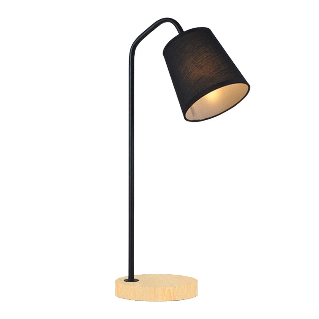 Attic Retro Table Lamp Traditional American Country Wooden Desk Lamp Scandinavian Metal Desktop Lighting Simple Modern Ey