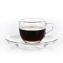 New Cup Transparent Coffee Heat-resisting Glass Suit Concise Concentrate Turkey Bring Dish Dropship