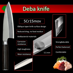 Image 4 - Japanese Deba Knife Stainless Steel Special Fish Cutting Kitchen Professional Cooking Tools Salmon Tuna Sashimi Slicing Carving