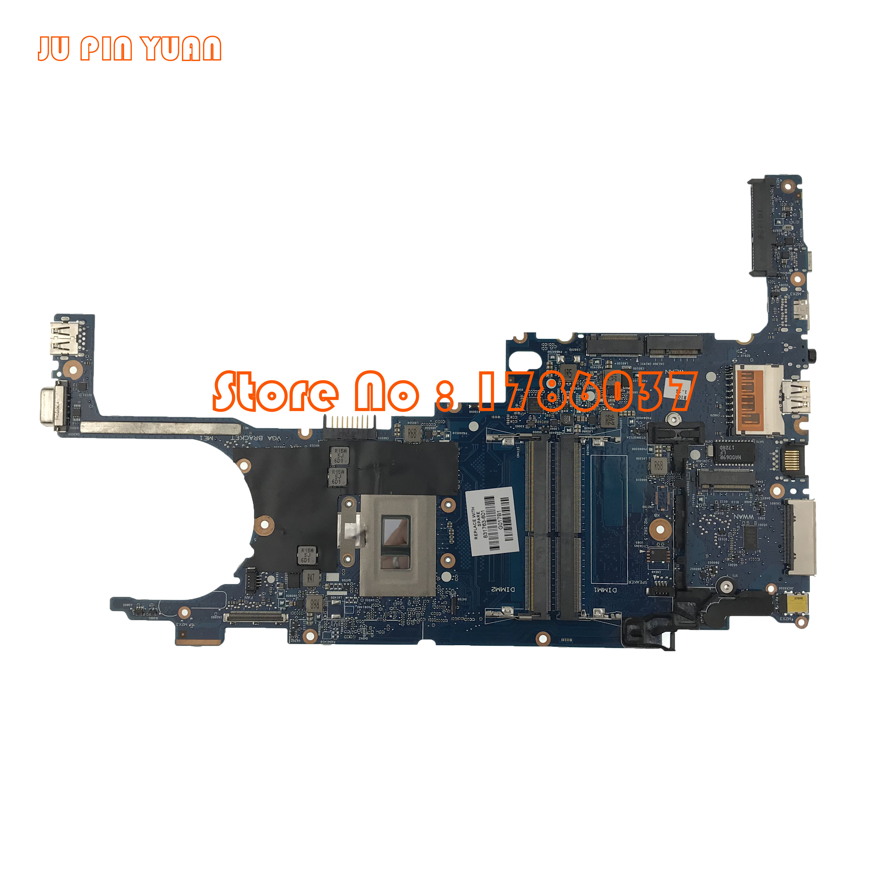 JU PIN YUAN Laptop motherboard for HP 820 G3 831763 001 831763 501 831763 601 WITH