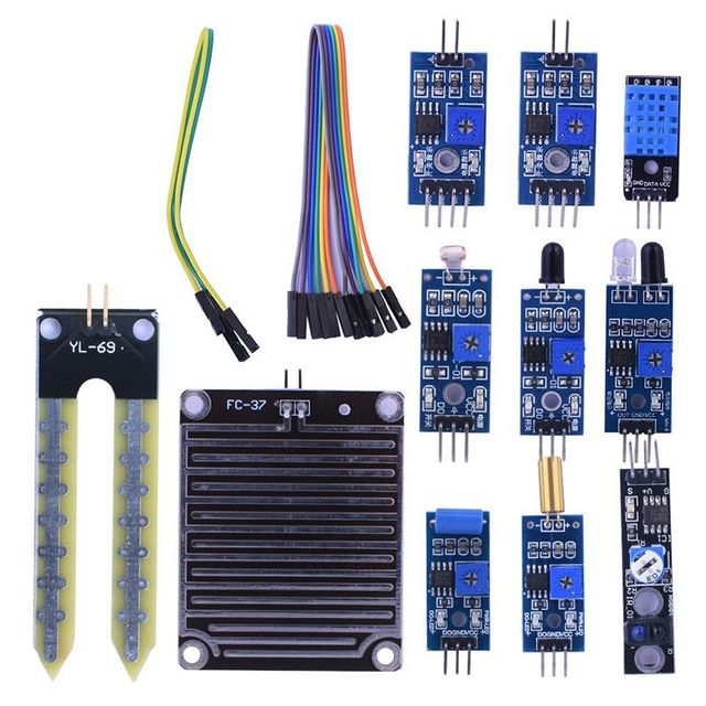 16 in 1 Modules Sensor Kit Project Super Starter Kits for Arduino UNO R3 Mega2560 Mega328 Nano Raspberry Pi 3 2 Model B K62 1