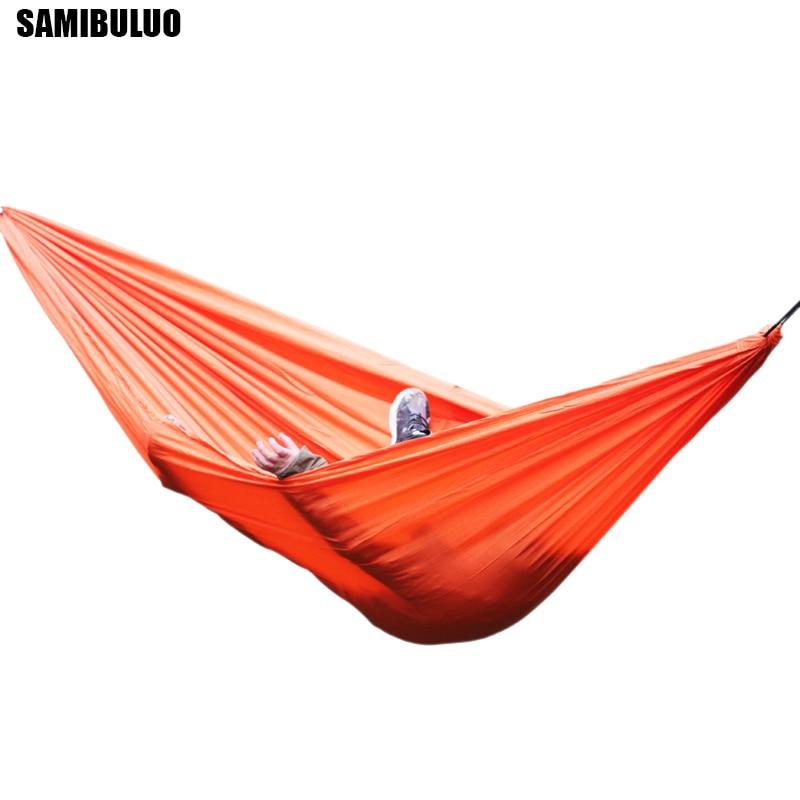 2 Person Portable Parachute Nylon Fabric Hammock Travel Camping 270 x 140cm