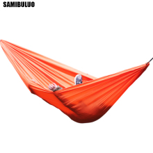 Portable Parachute Nylon Fabric Travel Ultralight Camping hamak Outdoor  Casual Hanging Bed Hamac Double Person Hammock недорого