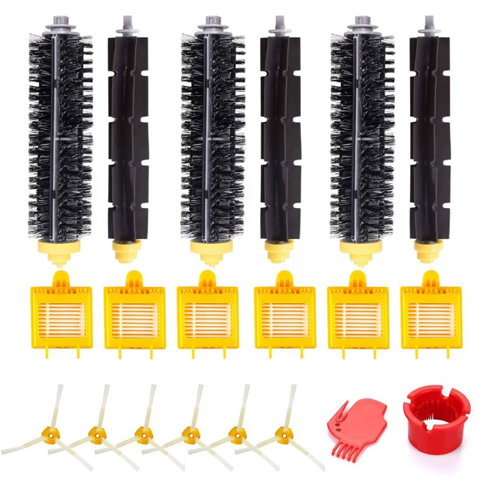 For IRobot 750 760 765 770 774 775 776 782 785 786 790 Roomba 780 Accessories Replenishment Parts Set Filter Side Brush Roller