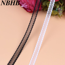 NBHB 10 ярдов красивое вышитое кружево отделка ткань 13 мм широкая кружевная лента из сетки для шитья аксессуары Свадебная вечеринка украшения