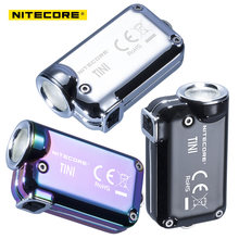 Nitecore TINI SS USB Rechargeable Stainless Steel LED Key Light CREE XP-G2 S3 LED 380 LM Include USB rechargeable Li-Ion Battery(China)