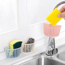 Plastic Kitchen Bathroom Gadget Storage Organizer Drain Baskets Small Wash Sponge Sink Holder