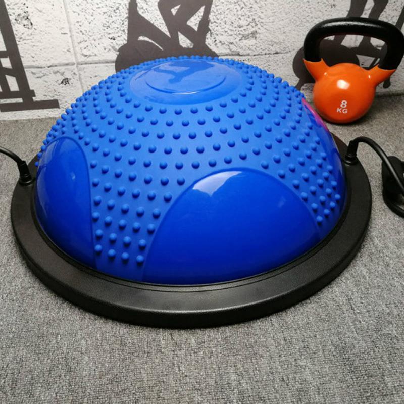 Yoga équilibre balle Gym entraînement Pilates demi Yoga balle exercices entraînement ménage équilibré Yoga hémisphère avec Granule de Massage