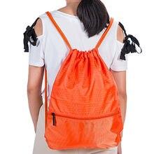 Горячая Мужская Женская Полиэфирная Сумка с завязками на спине, Спортивная вместительная сумка, школьная спортивная сумка, стиль