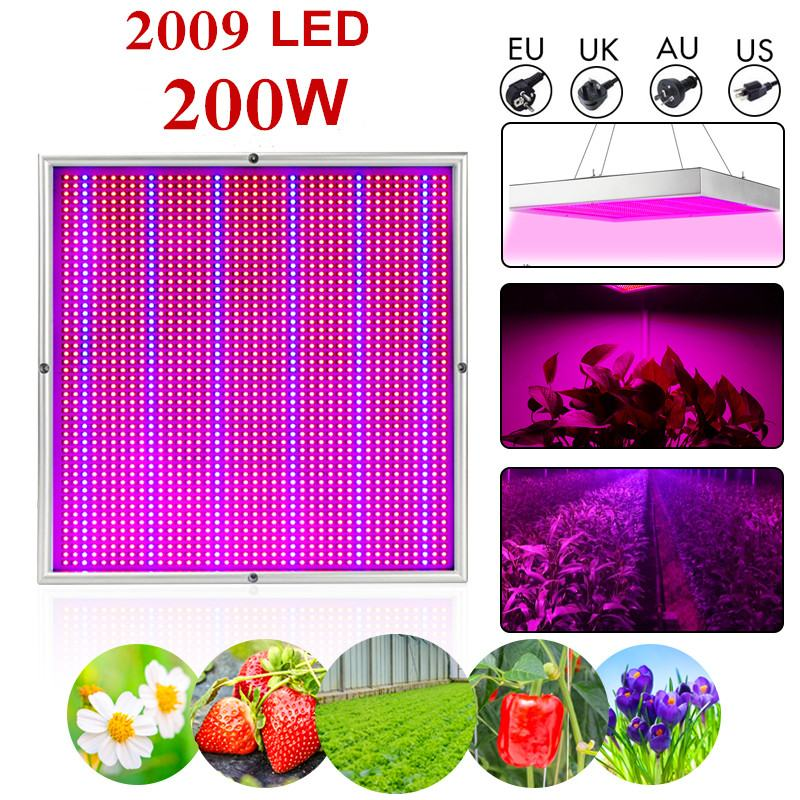 Smuxi 200W LED Grow Light 2009pcs LED Lamp Beads Full Spectrum Indoor Plant Growing Lamp For Plants Vegs Hydroponic System PlantSmuxi 200W LED Grow Light 2009pcs LED Lamp Beads Full Spectrum Indoor Plant Growing Lamp For Plants Vegs Hydroponic System Plant