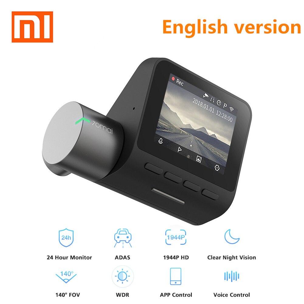 XIAOMI 70mai Dash Cam Pro 1944 P HD Автомобильный dvr камера IMX335 140 градусов FOV функция расширенный драйвер-система помощи приложение Controll