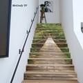 13 шт./компл. 3D наклейки для лестницы с рисунком моста водонепроницаемые съемные самоклеющиеся настенные наклейки на пол DIY Декоративные нак...