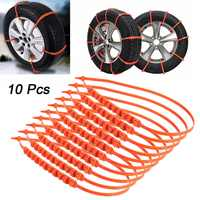 5pcs / 10Pcs Car Snow Tire Anti-skid Chains Tire Snow Chains Wheel Tyre Cable Belt Fit Tyre Width 175-295 Snow Rain Winter Tool