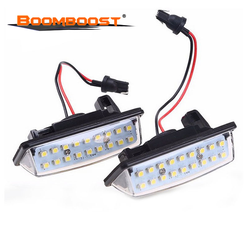 Lighting car-styling 2x Error Free Xenon White 2pcs LED license plate light for <font><b>Nissan</b></font> TEANA E11 <font><b>E12</b></font> C25 C26 image