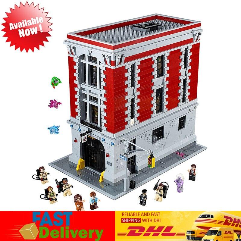 LEPIN Giocattoli 16001 4705 PCS Il Ghostbusters Firehouse Sede Modello Set Blocchi Mattoni Giocattoli Per Bambini Compatibile LegoINGlys 75827